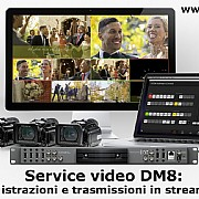 DM8 regia video Atem e streaming